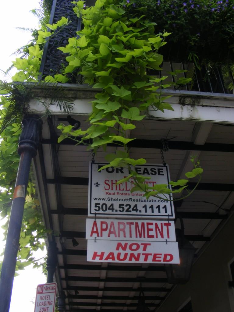 Louer un appartement à la Nouvelle-Orléans est une affaire d'esprit...