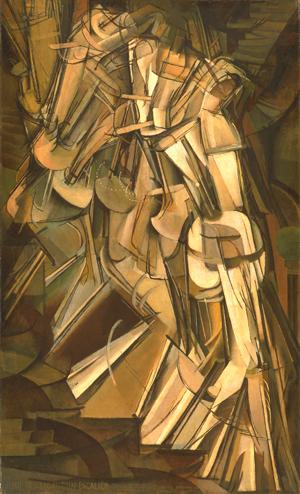 Marcel Duchamp, Nu Descendant l'Escalier n°2, 1912, © Adagp, Paris 2013