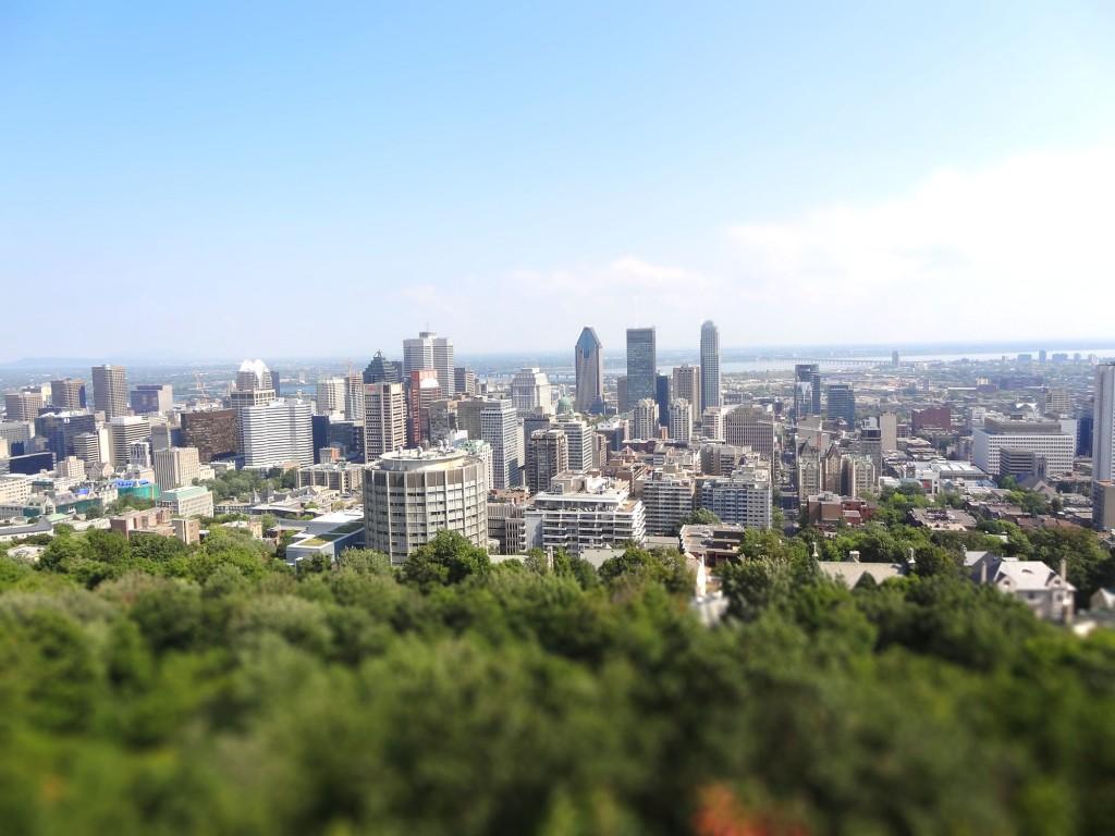 Montréal vue depuis le Mont Royal