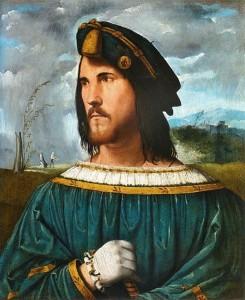 Portrait d'un gentilhomme (Cesar Borgia?) par Altobello Mellone.