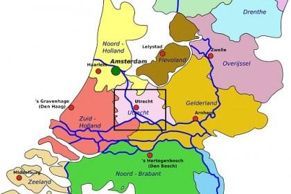 Utrecht c'est dans le gros carré noir!