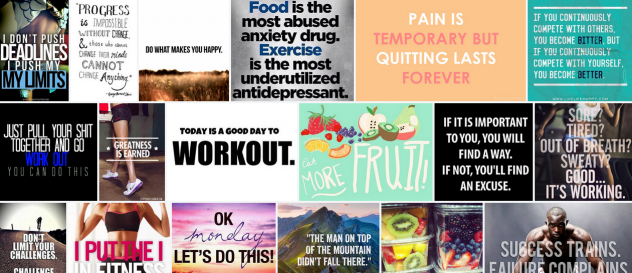 Des dixaines de mantras de motivation sur Flickr