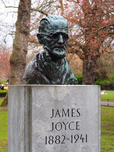 Buste de James Joyce dans Dublin. © M_Strasser
