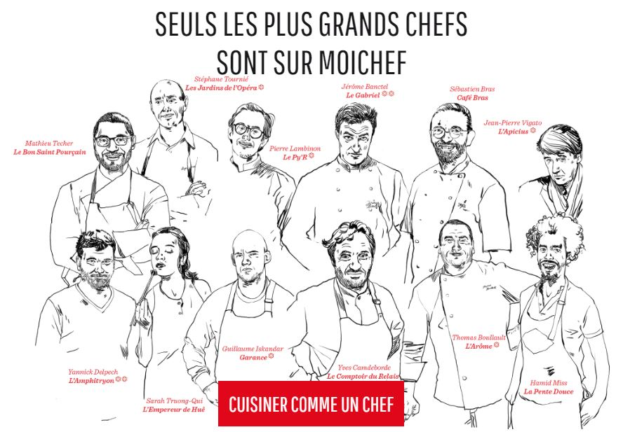 Quelques unes des collaborations de MoiChef