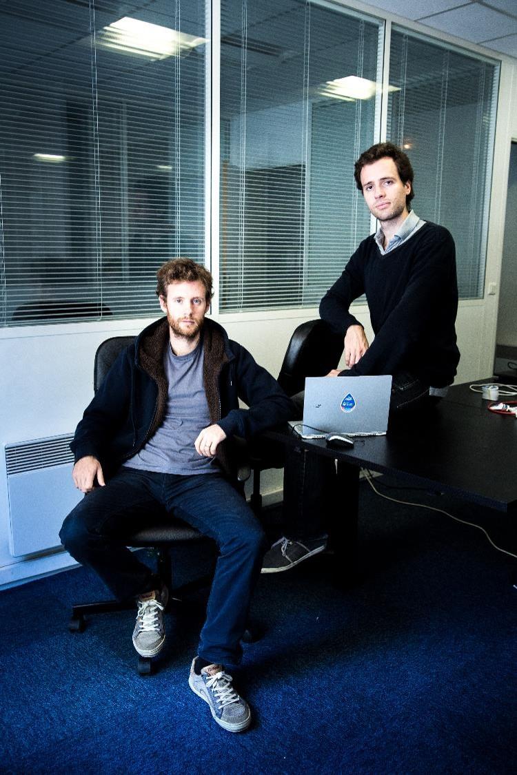 Marc (à gauche) et Clément (à droite) fondateurs de Lilo (© ErwanFlochmini)