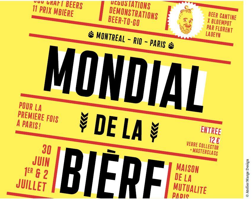 Le mondial de la bi re s 39 installe pour la 1 re fois for Salon de la biere paris 2017
